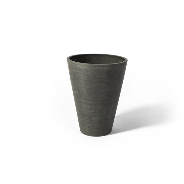 """Algreen Products Valencia Round Planter - 10"""" x 13"""" - Composite - Charcoal"""
