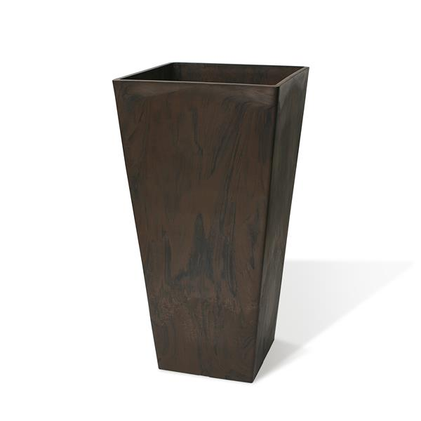"Algreen Products Valencia Square Planter - 16"" x 32"" - Composite - Chocolate"