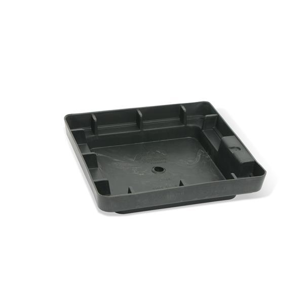 """Algreen Products Valencia Square Planter - 13"""" x 28"""" - Composite - Gray"""