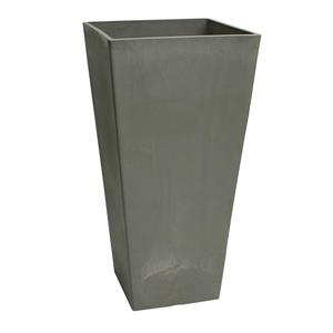 "Algreen Products Valencia Square Planter - 13"" x 28"" - Composite - Gray"