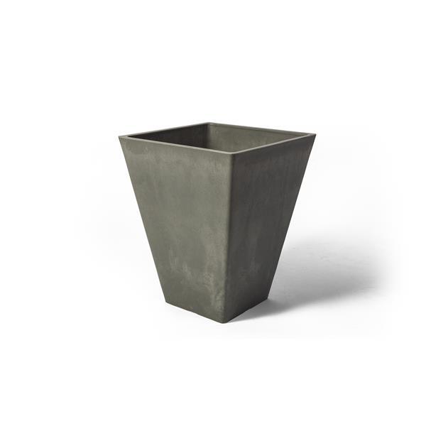 """Jardinière carrée Valencia, 12"""" x 14"""", composite, gris"""