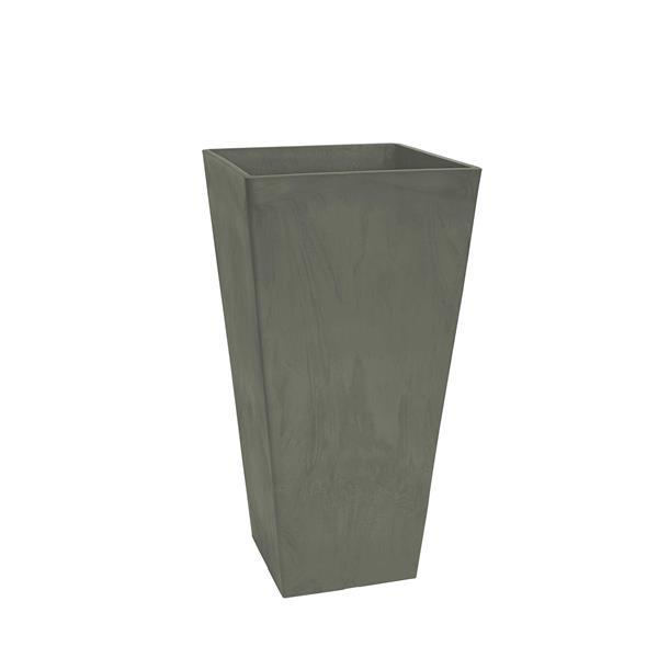 """Algreen Products Valencia Square Planter - 10"""" x 20"""" - Composite - Gray"""