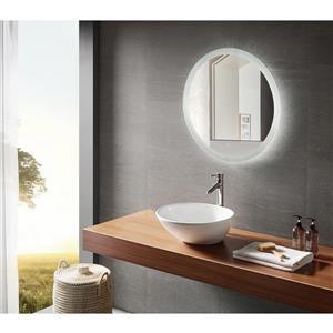 Miroir de salle de bain DEL Lune de GEF, 24 po