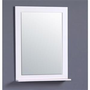GEF Willow Bathroom Mirror, 31.5-in White