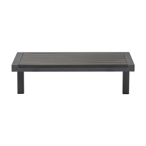 Zuo Modern Santorini Outdoor Side Table - 28-in - Aluminium - Dark Grey