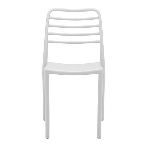 Chaise d'extérieur Donzo de Zuo Modern, 17,7 po x 18,3 po, gris pâle, ens. de 2