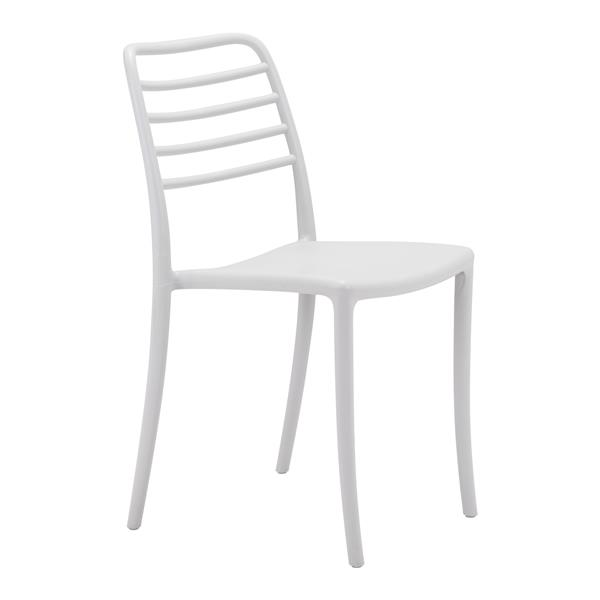 Zuo Modern Donzo Outdoor Dining Chair - 17.7-in x 18.3-in - Light Grey - Set of 2