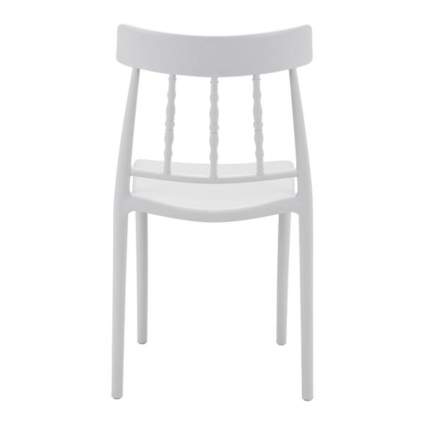 Zuo Modern Rift Outdoor Dining Chair - 18.1-in x 17.7-in - Grey - Set of 2