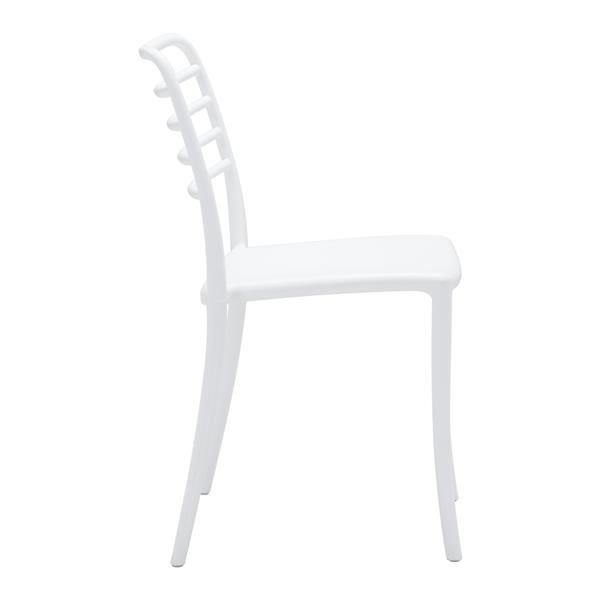 Zuo Modern Donzo Outdoor Dining Chair - 17.7-in x 18.3-in - White - Set of 2
