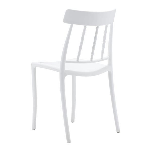 Zuo Modern Rift Outdoor Dining Chair - 18.1-in x 17.7-in - White - Set of 2