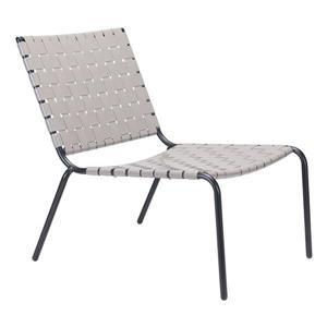 Chaise de jardin Beckett de Zuo Modern, 26,4 po, gris pâle