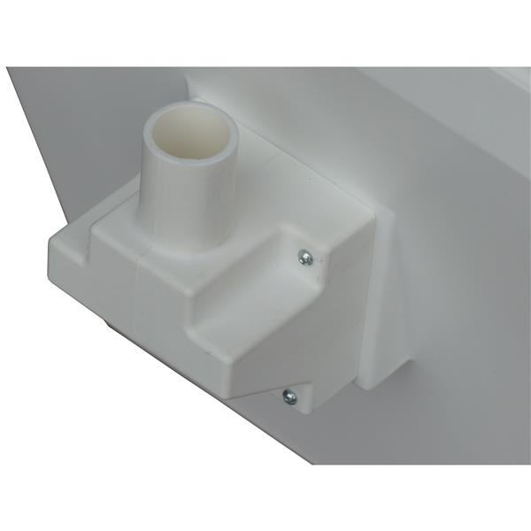 Sun-Mar GTG White Touchless Standard Height Elongated Portable Toilet with Built-In Fan