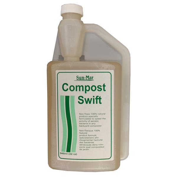 Sun-Mar Compost Swift 100% Natural - Accelerant - 946 mL Bottle