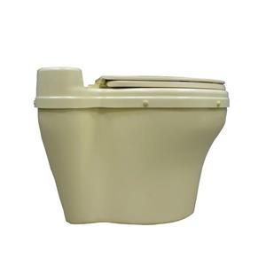 Toilette sèche ronde en fibre de verre Sun-Mar, Beige