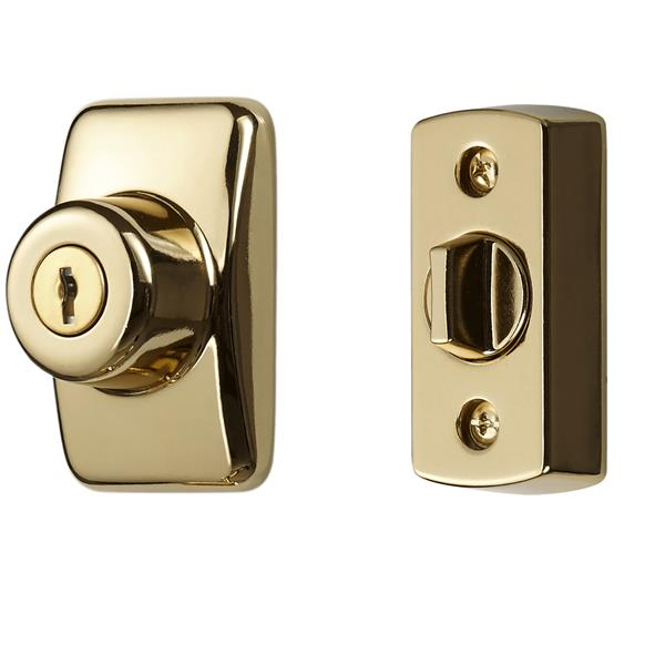 Ideal Security Keyed Deadbolt - Brass