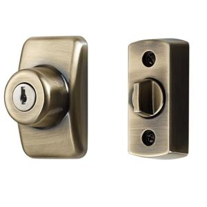 Ideal Security Keyed Deadbolt - Antique Brass