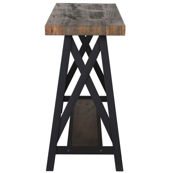 Worldwide Home Furnishings Console Table - 48-in x 30-in - Wood Veneer - Brown