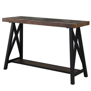 Worldwide Home Furnishings Console Table - 48-in x 30-in - Wood Veneer - Brown