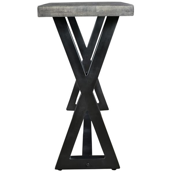 Worldwide Home Furnishings Console Table - 53-in x 30-in - Wood - Gray