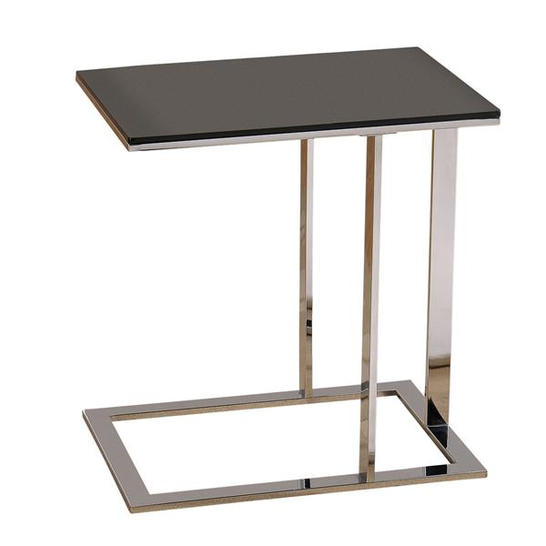 Worldwide Home Furnishings End table - 21.75-in x 23-in - Glass - Silver