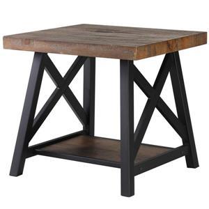 "Table d'appoint, 24"" x 22"", composite, brun"