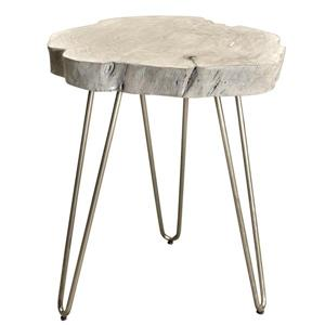 Worldwide Home Furnishings End table - 20-in x 24-in - Wood - Light Gray