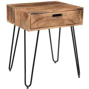 """Table d'appoint, 19,75"""" x 23,5"""", bois, brun"""