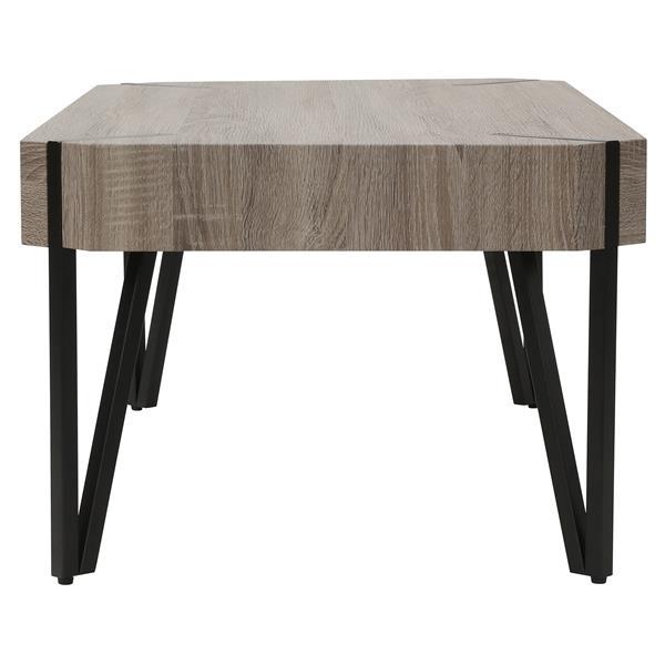 Worldwide Home Furnishings Coffee Table - 43.25-in x 16.5-in - Wood - Brown
