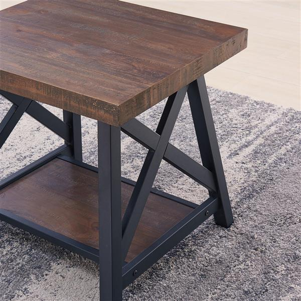 Worldwide Home Furnishings Coffee Table - 47.25-in x 18-in - Wood - Oak