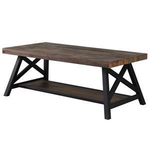 "Table à café, 47,25"" x 18"", bois, chêne"