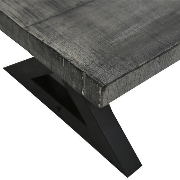 Worldwide Home Furnishings Coffee Table - 51.25-in x 18-in - Wood - Gray