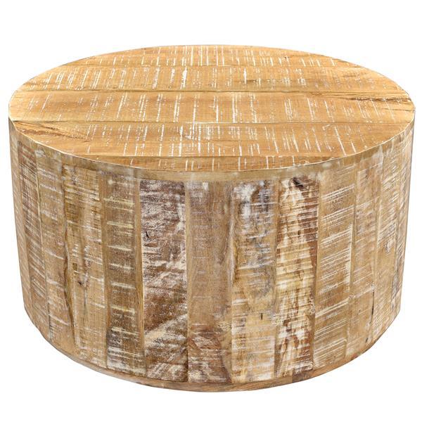 Worldwide Home Furnishings Coffee Table - 32.75-in x 17.75-in - Wood - Natural