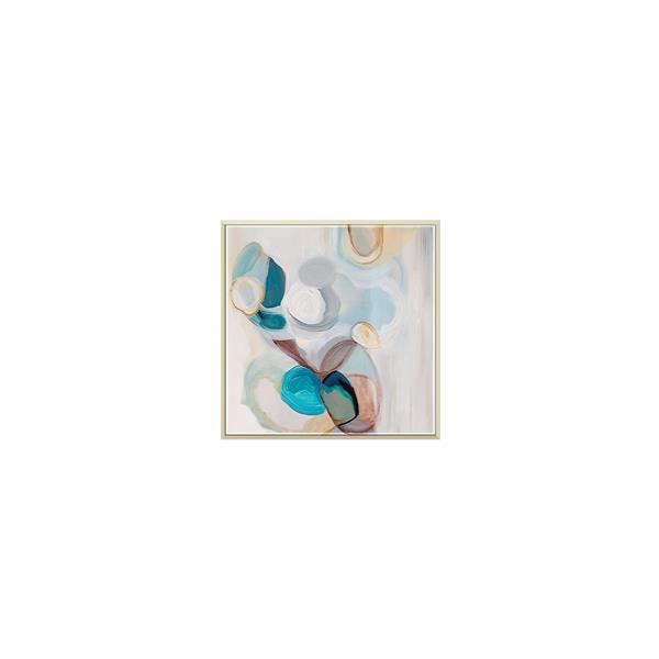 Stella.B Decor Cienna 2 Framed Canvas Champaign Frame - 20-in x 20-in