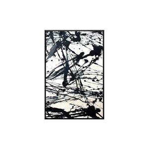 Stella.B Decor STRIADE 2 Framed Canvas with Black Frame - 24-in x 36-in
