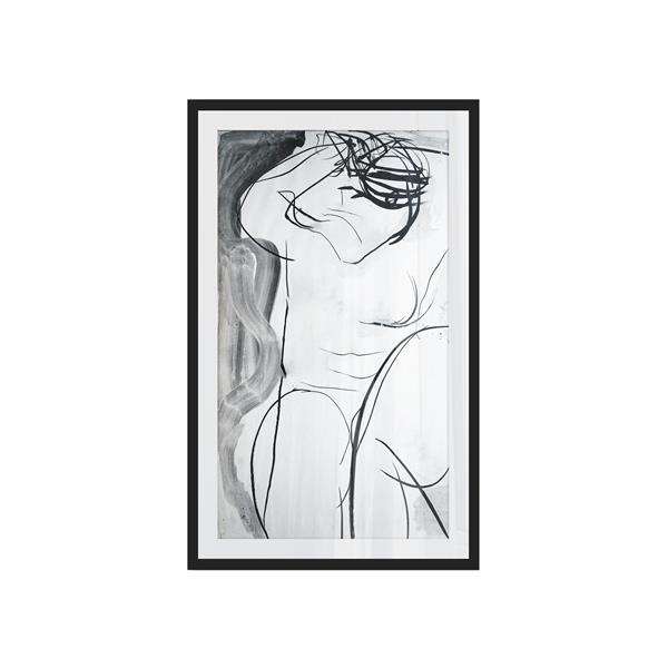 """Impression encadrée LAVIRANI, cadre noir,  26""""x 42"""""""