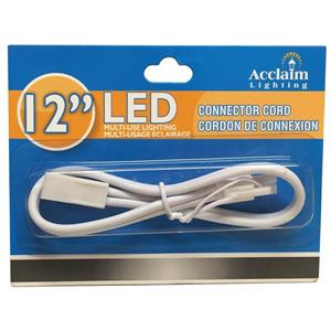 "Acclaim Lighting LED Connector Cord - 12"" - White"