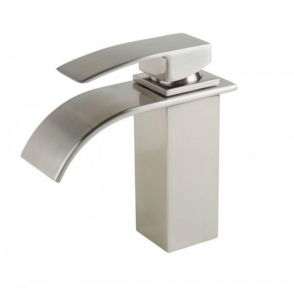 Sera Bathroom Vanity Faucet Waterfall, brushed nickel
