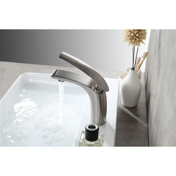 Sera Bathroom Vanity Faucet Studio, brushed nickel