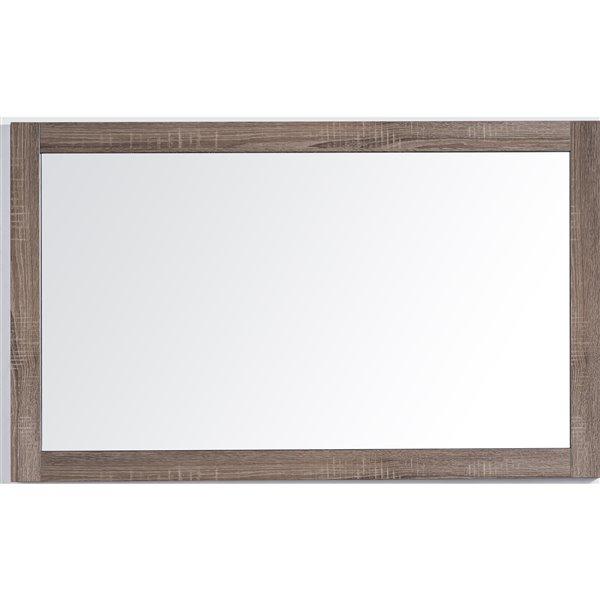 GEF Rosalie Vanity Set with Mirror, 48-in Soft Oak