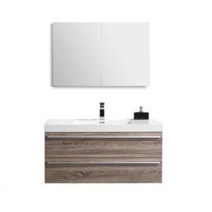GEF Rosalie Vanity Set with Medicine Cabinet, 43-in Soft Oak