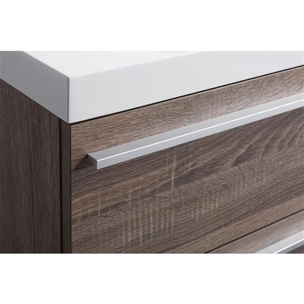 GEF Rosalie Vanity Set with Medicine Cabinet, 48-in Soft Oak