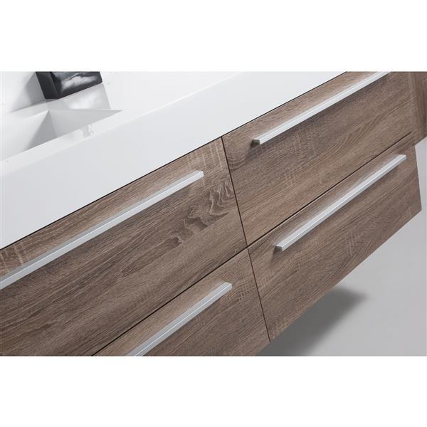 GEF Rosalie Vanity Set with Medicine Cabinet, 60-in Soft Oak