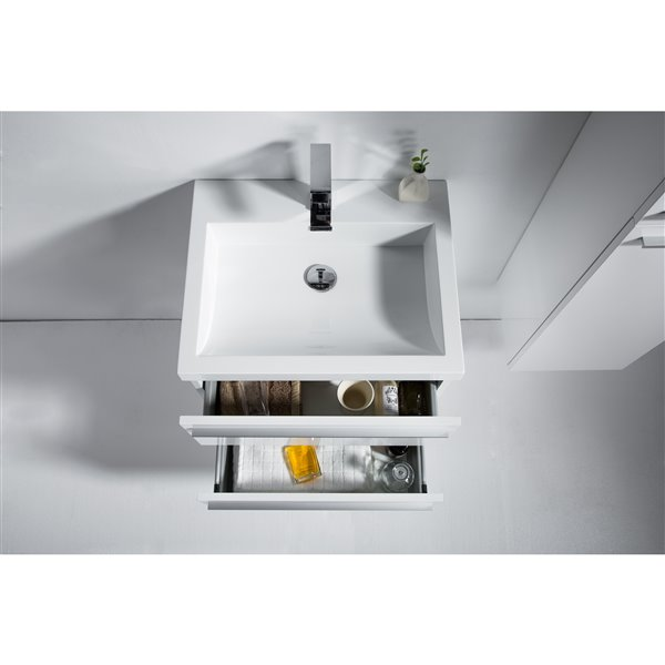 GEF Rosalie Vanity Set with Medicine Cabinet, 24-in White