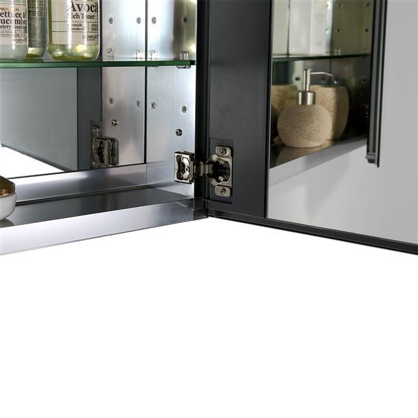 GEF Rosalie Vanity Set with Medicine Cabinet, 30-in White
