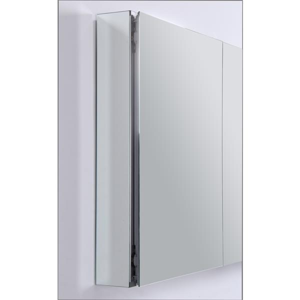 GEF Brooke Vanity Set with Medicine Cabinet, 48-in White