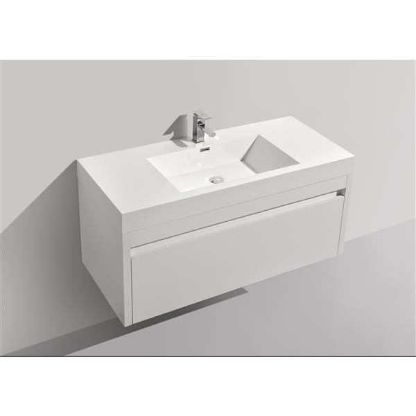 GEF Selena Vanity Set with Medicine Cabinet, 48-in White