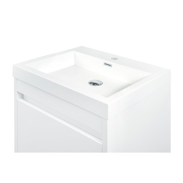 GEF Selena Vanity Set with Medicine Cabinet, 24-in White