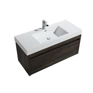 GEF Selena Vanity Set with Medicine Cabinet, 48-in Dark Oak
