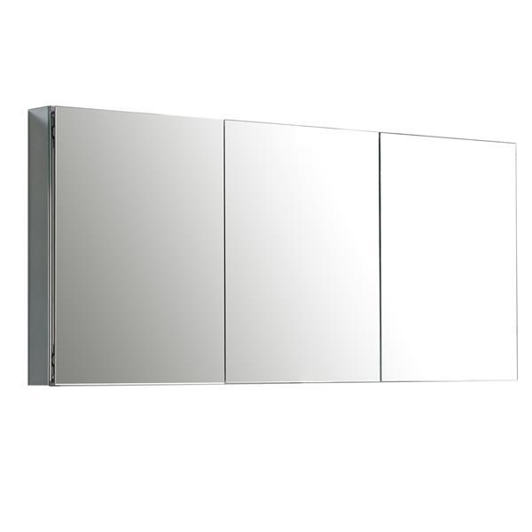 GEF Scarlett Vanity Set with Medicine Cabinet, 60-in white