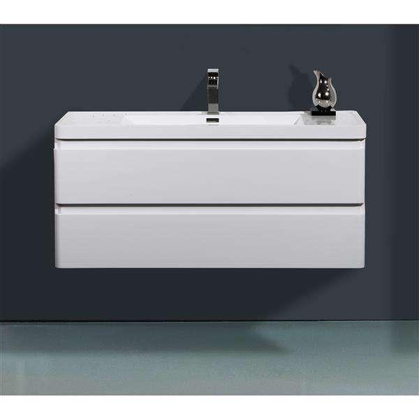 GEF Scarlett Vanity Set with Medicine Cabinet, 48-in white